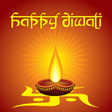 Diwali greeting background Royalty Free Stock Photography