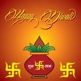 Diwali greeting background Stock Images
