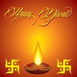 Diwali greeting background Stock Image