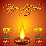 Diwali greeting background Stock Photography