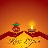 Diwali greeting background Royalty Free Stock Photo