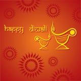 Diwali greeting background Stock Photos