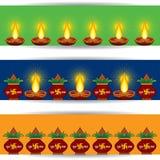 Diwali greeting banner for website Stock Image