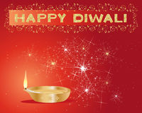 Diwali greeting card Royalty Free Stock Photography