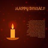 Diwali greeting card. Royalty Free Stock Photo