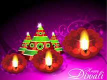 Diwali Greeting Card With Cracker Royalty Free Stock Photo