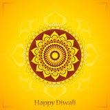 Diwali greeting card design. Happy Diwali. Elegant greeting card design with traditional Indian ornament vector illustration