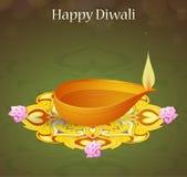 Diwali greeting card Stock Image