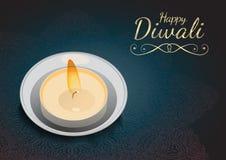 Diwali greeting card Royalty Free Stock Images