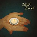 Diwali greeting card Stock Images