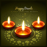 Diwali greeting design Royalty Free Stock Images