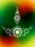 Diwali greeting design Royalty Free Stock Image