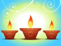 Diwali greeting Stock Photography