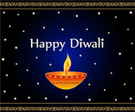 Diwali greetings. Indian festival Diwali lamp and wishes Stock Photography