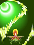 Diwali-Gruß Lizenzfreie Stockbilder