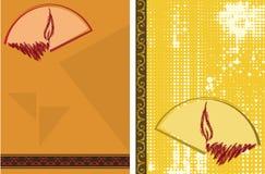 Diwali-Gruß Lizenzfreies Stockfoto