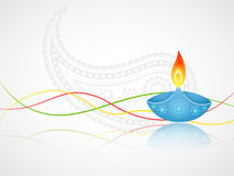 Diwali-Gruß Lizenzfreie Stockfotografie