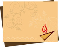 Diwali-Gruß Stockfotografie