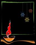 Diwali hälsning Royaltyfri Bild
