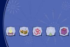 Diwali hälsning Arkivfoto