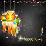 Diwali hängande lykta vektor illustrationer