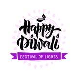 Diwali hand getrokken het van letters voorzien typografie royalty-vrije illustratie