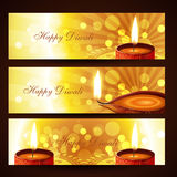 Diwali headers set Royalty Free Stock Photo