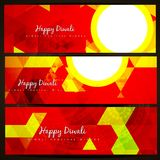 Diwali headers Royalty Free Stock Photos