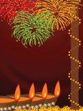 Diwali, het Festival van Lichten stock illustratie