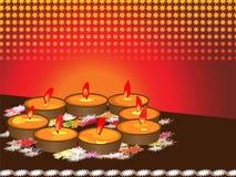 Diwali, het Festival van Lichten royalty-vrije illustratie