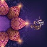 Diwali heureux des textes Photographie stock libre de droits