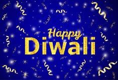Diwali heureux - fond coloré W de festival indien traditionnel Image libre de droits