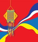 Diwali-Hintergrund-Schablonen-Design Lizenzfreies Stockbild