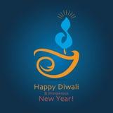 Diwali hälsning Arkivfoton