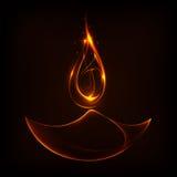 Diwali Holiday background. Illustration of burning diwali diya on Diwali Holiday background vector illustration
