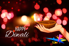 Diwali Holiday background Royalty Free Stock Photos