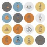 diwali Icônes indiennes de festival Photographie stock libre de droits