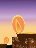 Diwali, il festival degli indicatori luminosi Fotografie Stock
