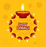Diwali illuminating Diya for Hindu festival  Royalty Free Stock Photo