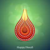 Diwali Indian festival greeting card Royalty Free Stock Image