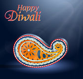 Diwali Indian festival greeting card Royalty Free Stock Photos