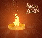 Diwali Indian festival greeting card Royalty Free Stock Photo