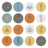 Diwali. Indian Festival Icons Royalty Free Stock Photography