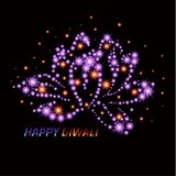 Diwali the Indian Festival of Lights. Greeting card. Royalty Free Stock Photo