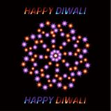Diwali the Indian Festival of Lights. Greeting card.  Royalty Free Stock Images