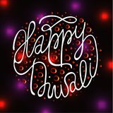 Diwali the Indian Festival of Lights Greeting card.  Stock Images