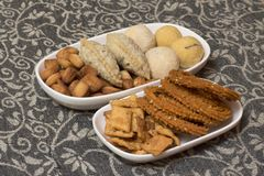 Diwali Indian food snacks and sweets royalty free stock photos