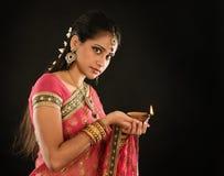 Diwali Indian girl royalty free stock photos