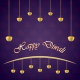 Diwali indisk feriefestival av ljusvektorn Royaltyfri Illustrationer