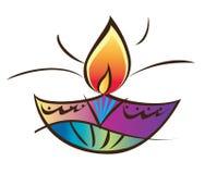 Diwali-Kerzenlicht Stockfotografie